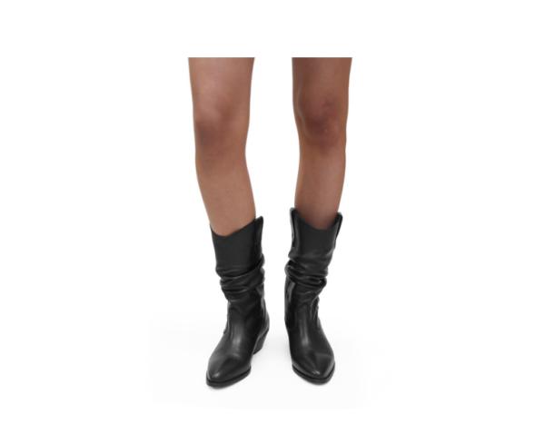 ABA - Stiefel SOFT LEATHER BLACK aus echtem Leder