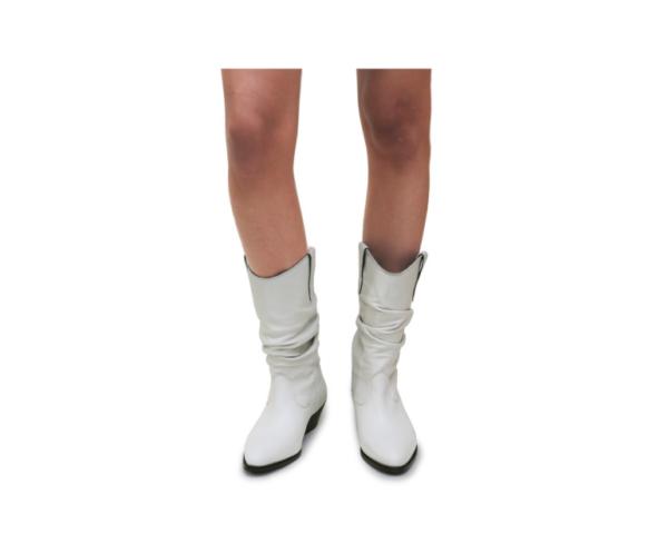 ABA - Stiefel SOFT LEATHER WHITE aus echtem Leder seitlich