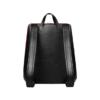 CANUSSA URBAN BLACK_RED Rucksack veganes Leder nachhaltig aus recycelten Plastikflaschen Rückseite