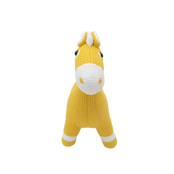 Crochetts Pferd MINI gelb
