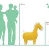 Crochetts Pferd MAXI Größenmaße